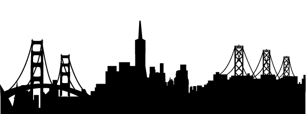 San francisco skyline silhouette png. Synthesis workshop knowledge architecture