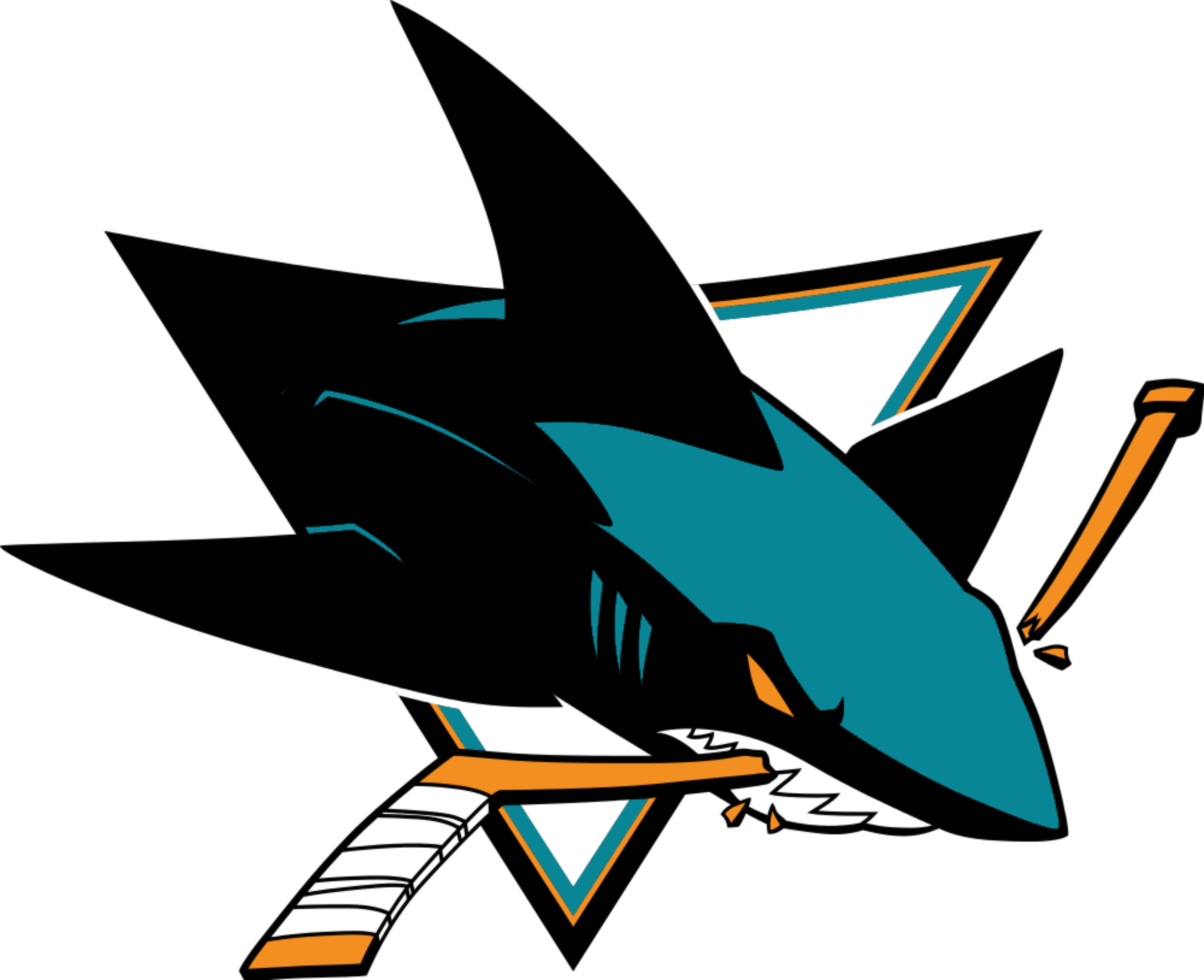 San jose sharks logo png. Logos download logotype emblem