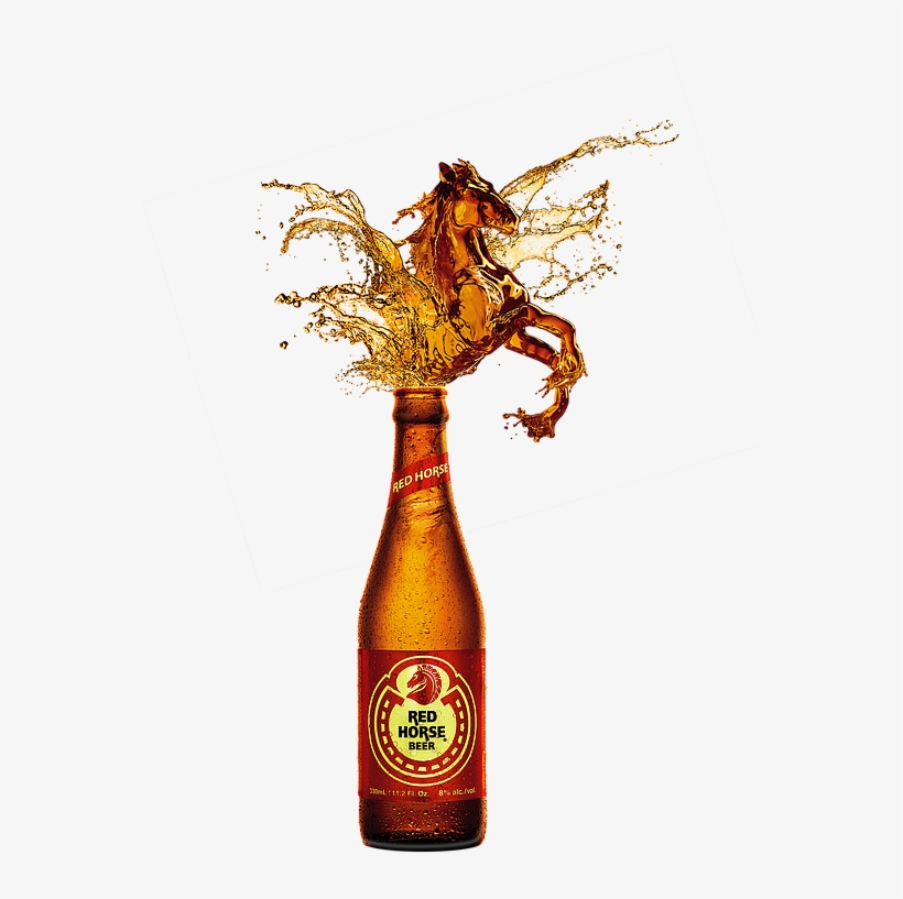 San Miguel. Beer clipart redhorse red
