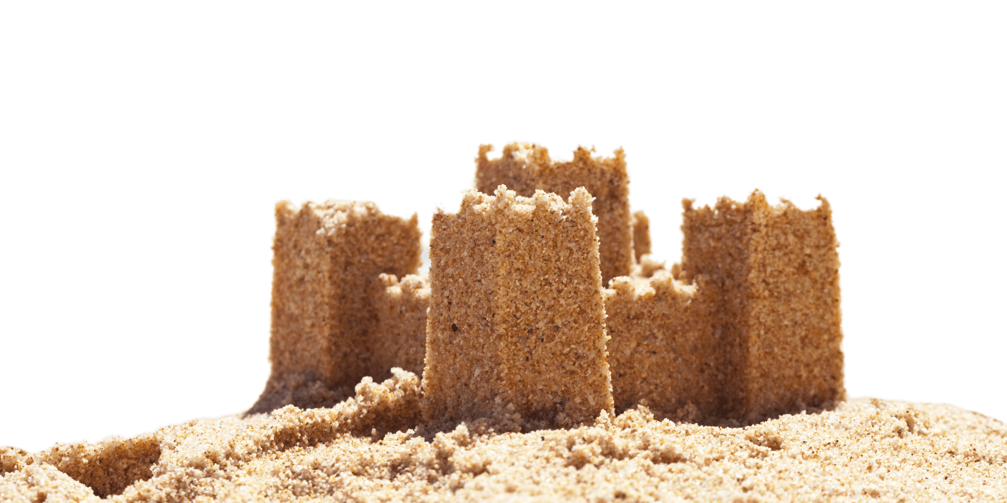 Sand castle png. Four towers transparent stickpng