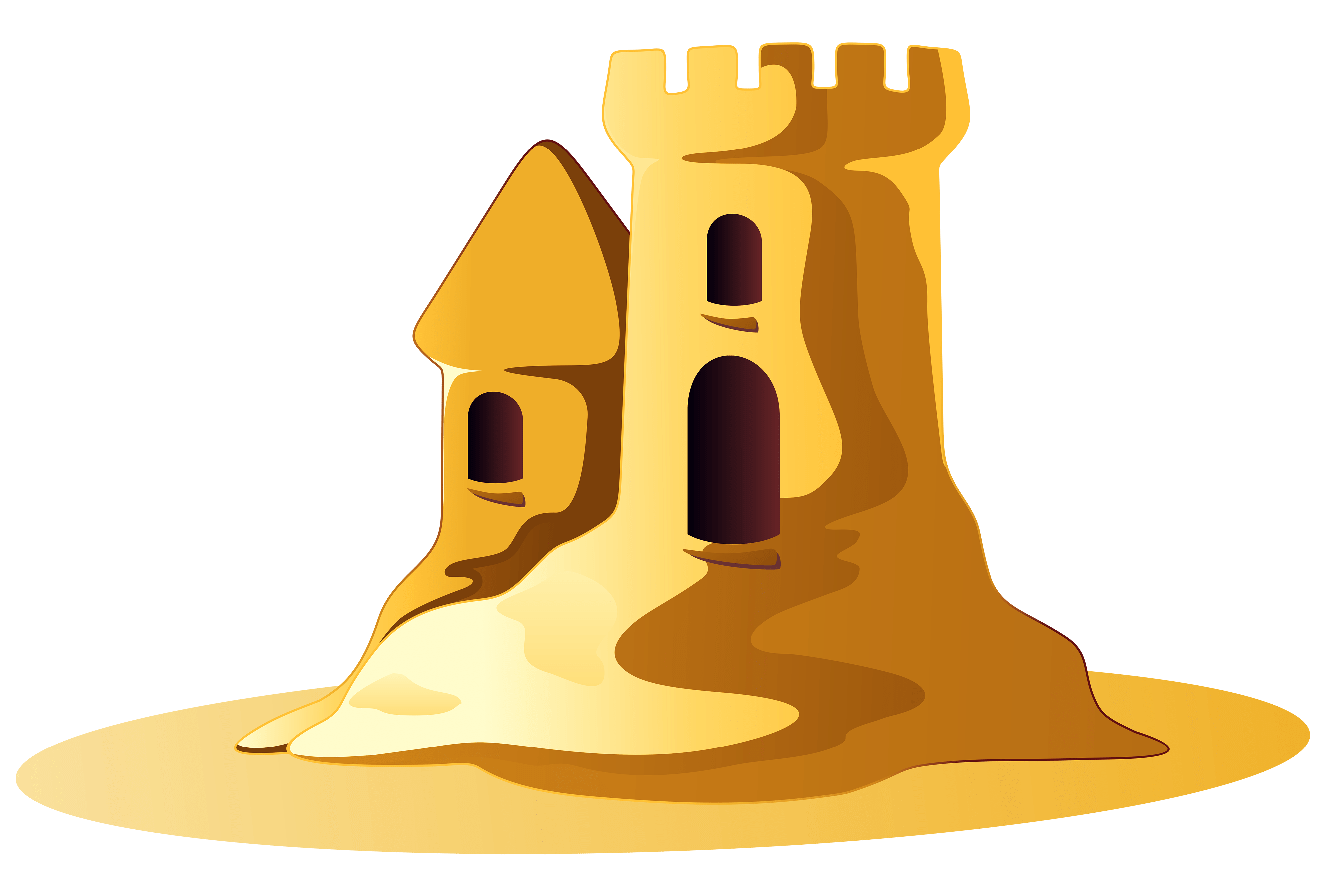 Transparent castle sand. Small clipart png stickpng