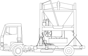 Sand clipart lorry. Truck and sandmixer clip