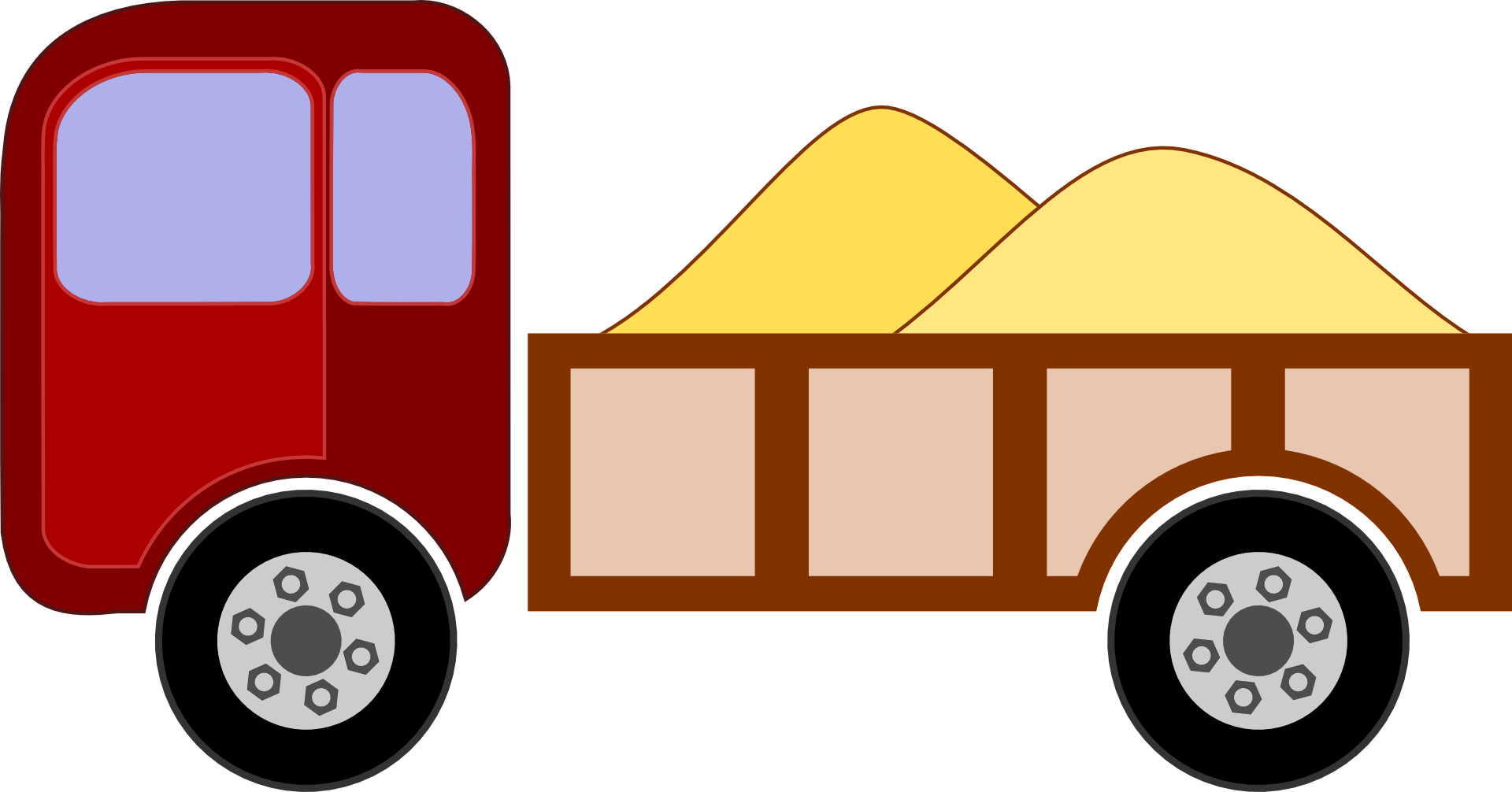 Sand clipart lorry. Truck transportation vehicle free