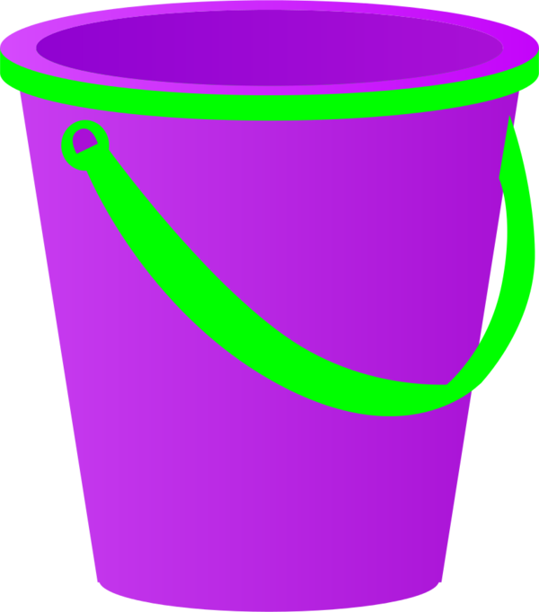 Vector sand transparent. Yellow pail with blue