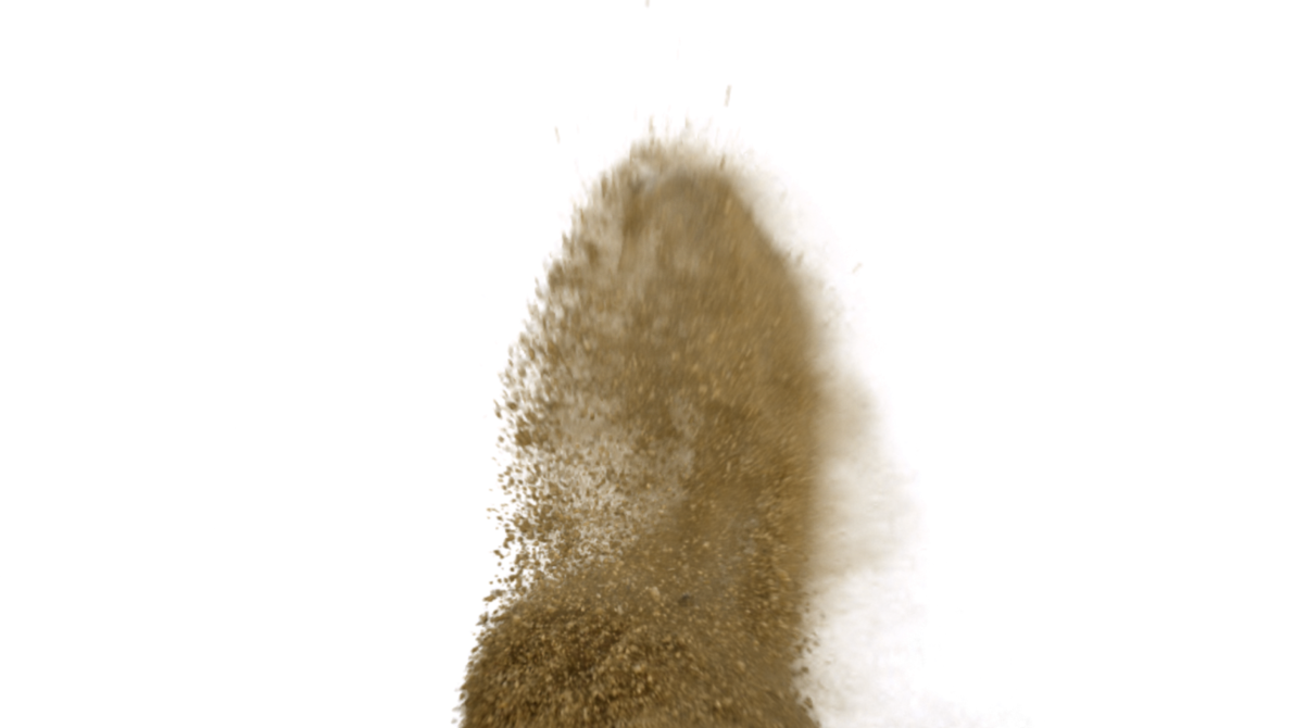 Sand cloud png. Dirt charges begin by