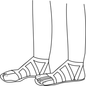 Sandals clipart black and white. Feet clip art at