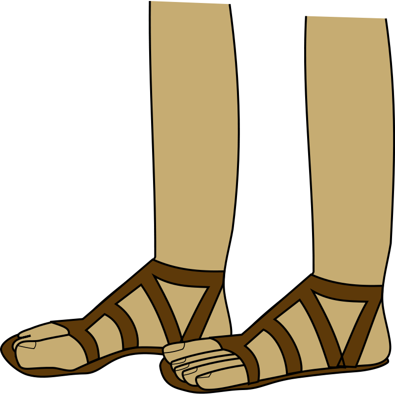 Sandals clipart roman sandal. Pencil and in color