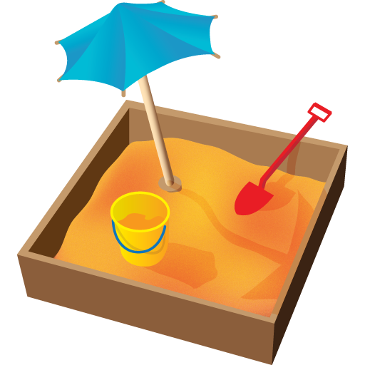 Sandbox drawing playground. Free pictures download clip