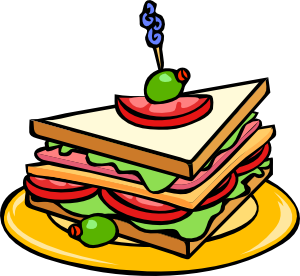 Sandwich clipart. Triangle clip art at
