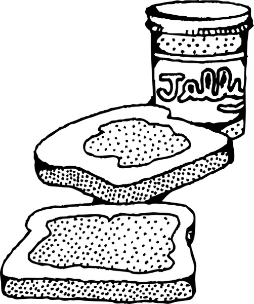 Sandwich clipart line drawing. At getdrawings com free