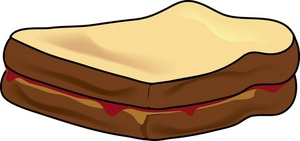 Sandwich clipart peanut butter sandwich. And jelly panda free