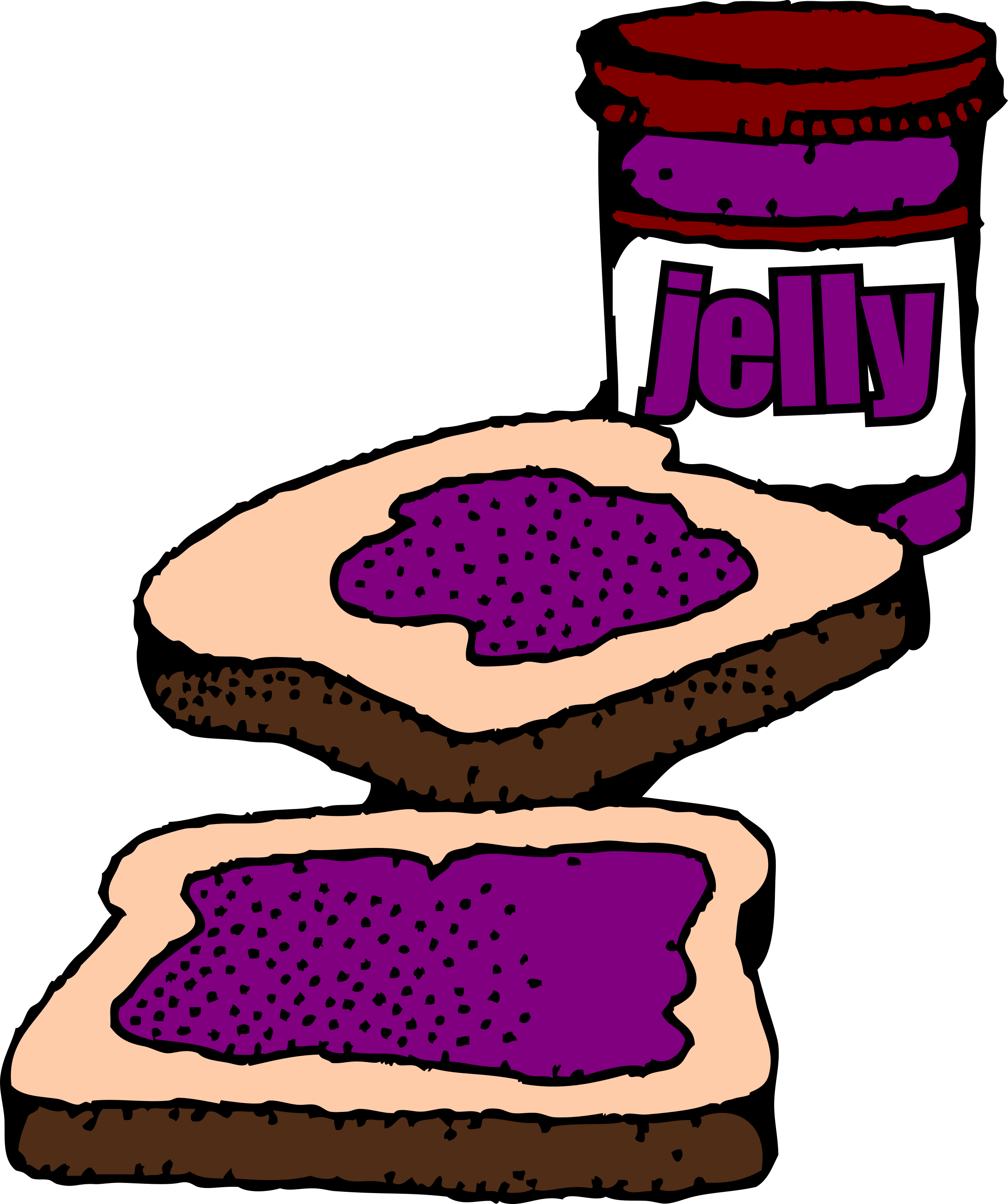 Sandwich clipart peanut butter sandwich. Colorized and jelly big