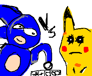 Yes the hedgehog vs. Sanic drawing png royalty free stock