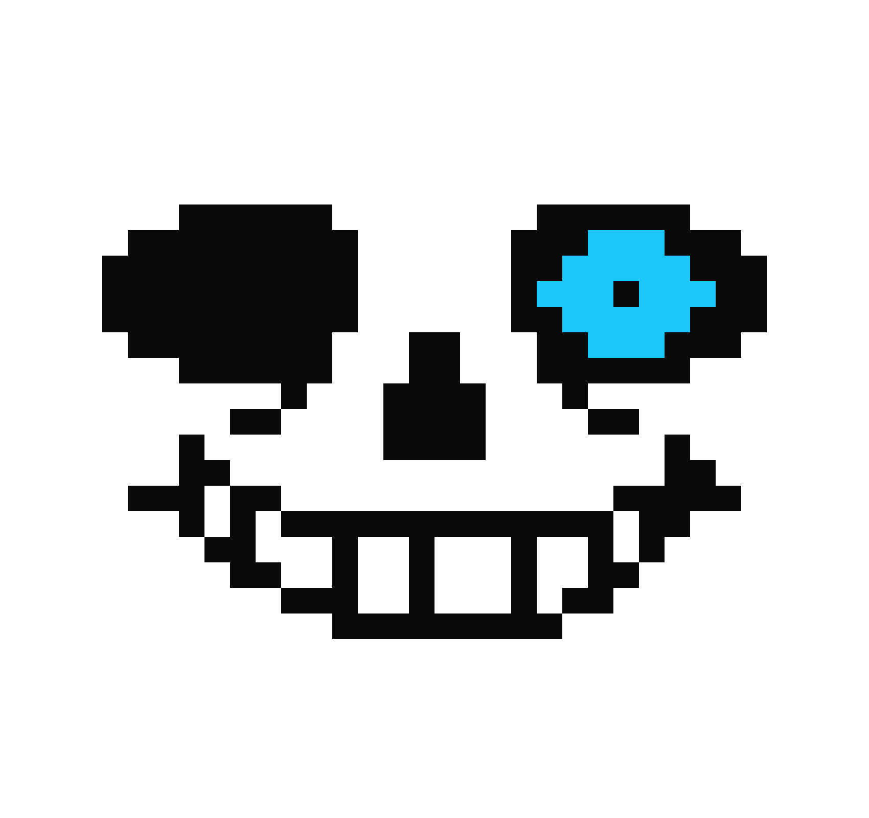 Blue pixel art maker. Sans eye png transparent library