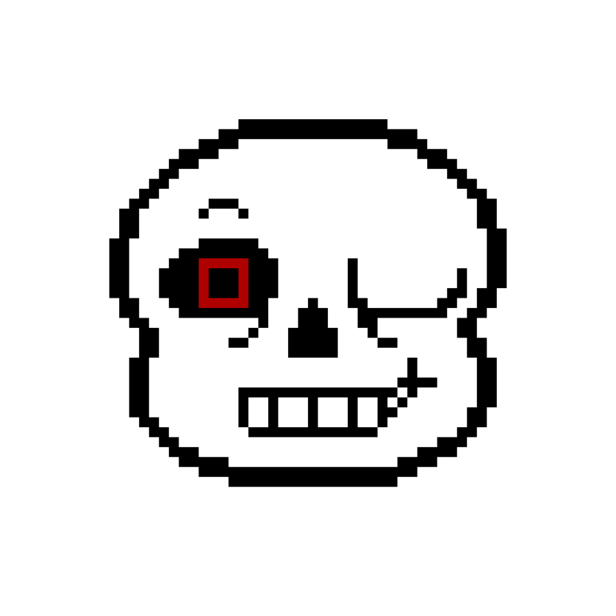 Sans face png. Magma tale winking by