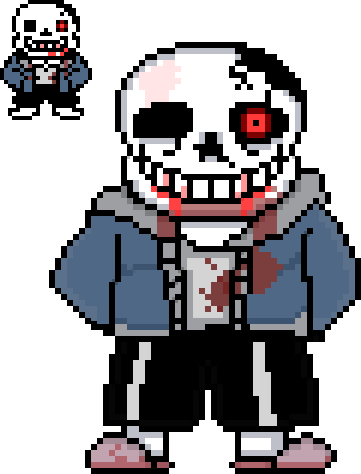 Sans face sprite png. Horror horrortale by natet