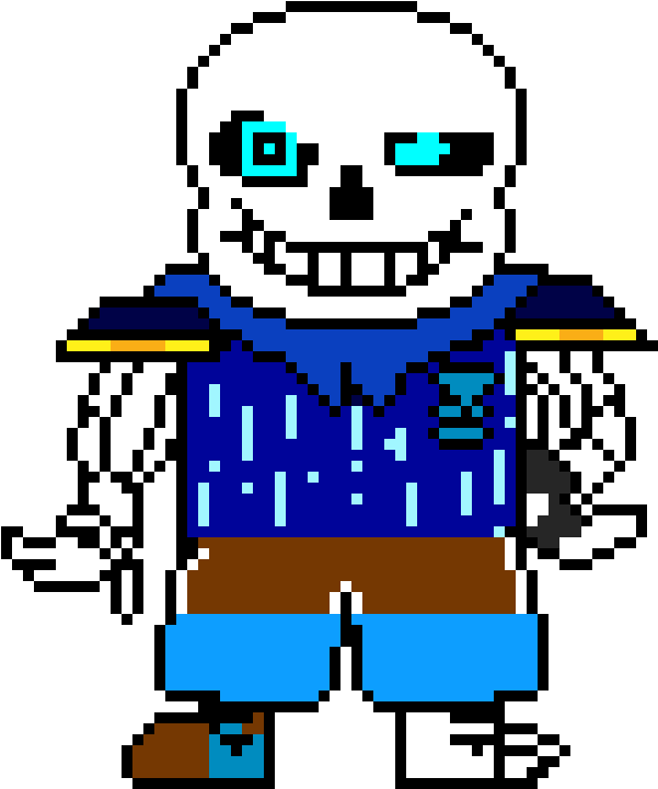 Sans face sprite png. Download bluescreen undertale skull