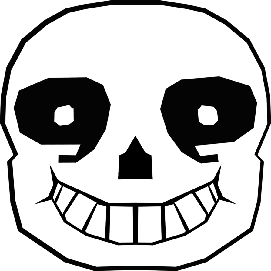 Sans face undertale png. By dragonlovertori on deviantart