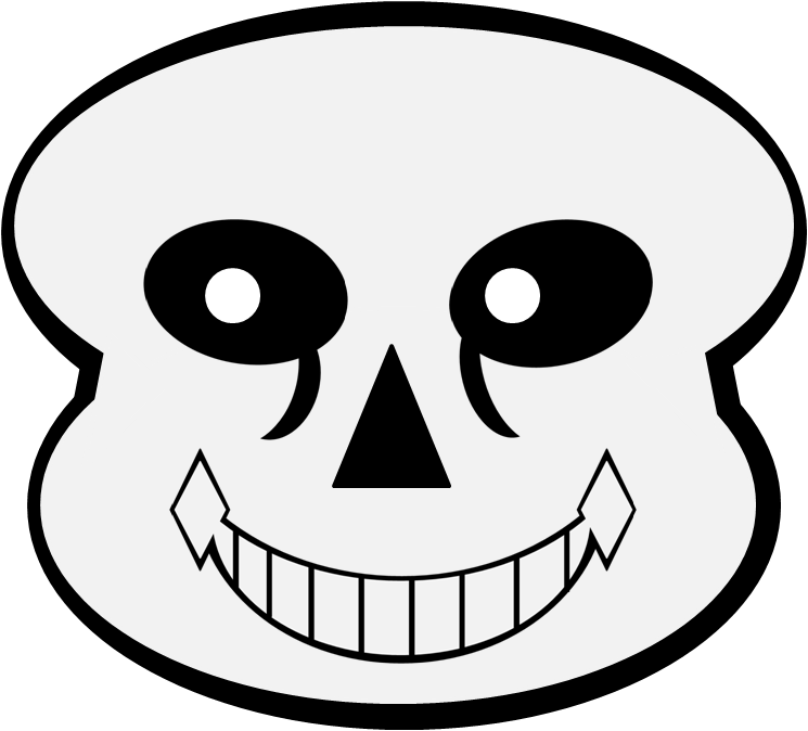 Sans mouth png. Image complete head object