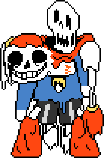 Undertale sprite png. Image colored sixbones by