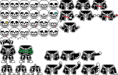 Sans sprite png. Sheet by papyron on