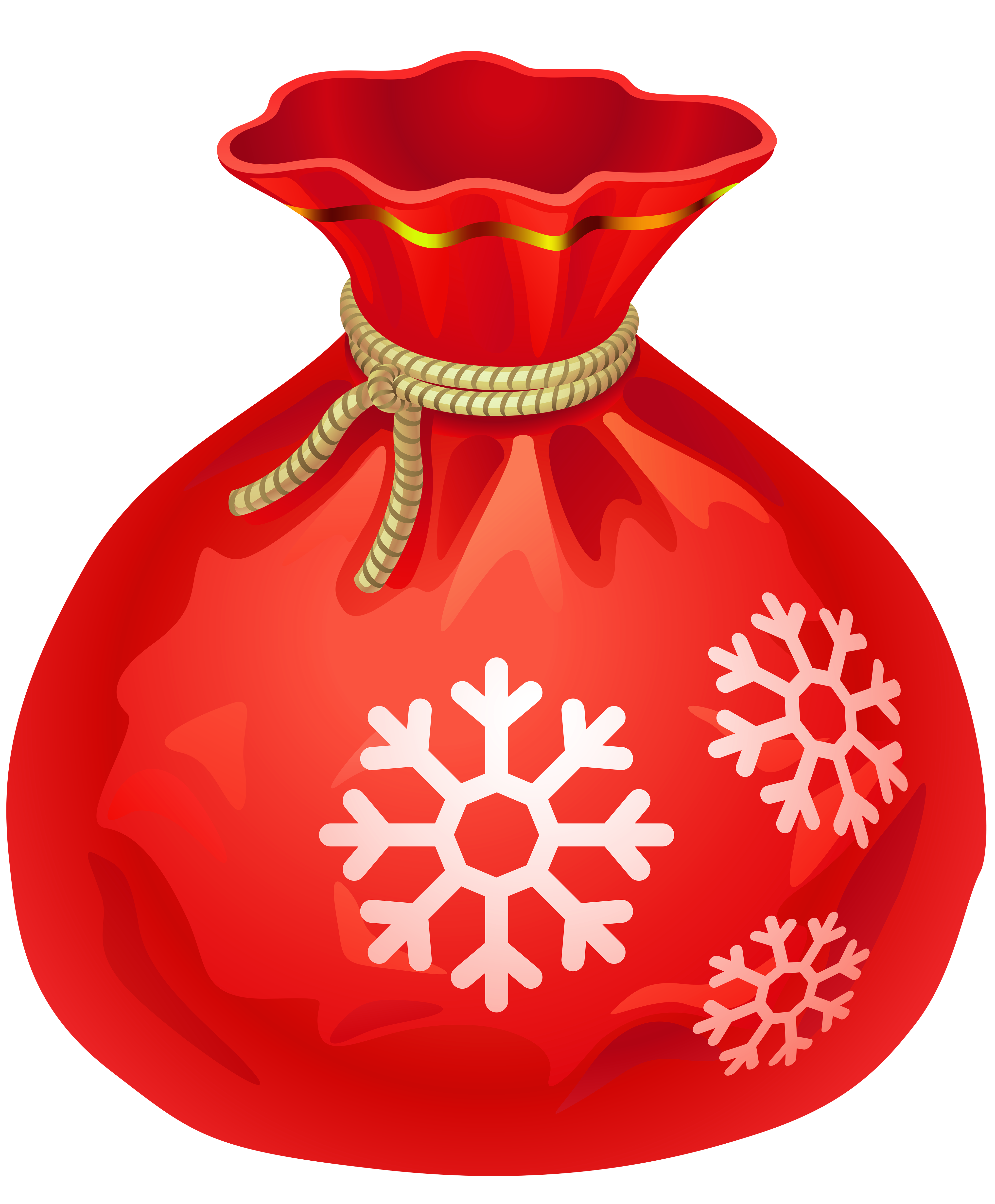 Santa bag png. Transparent christmas red clipart