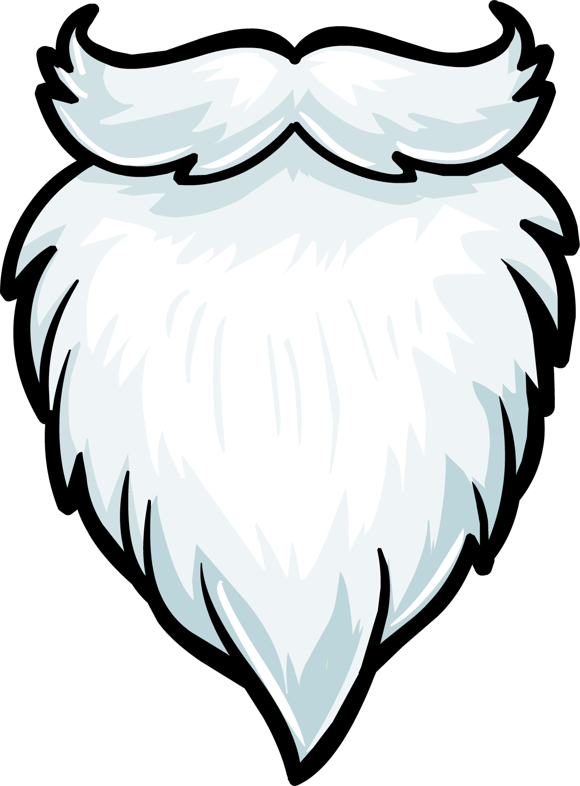 Santa beard png. Image white fuzzy club
