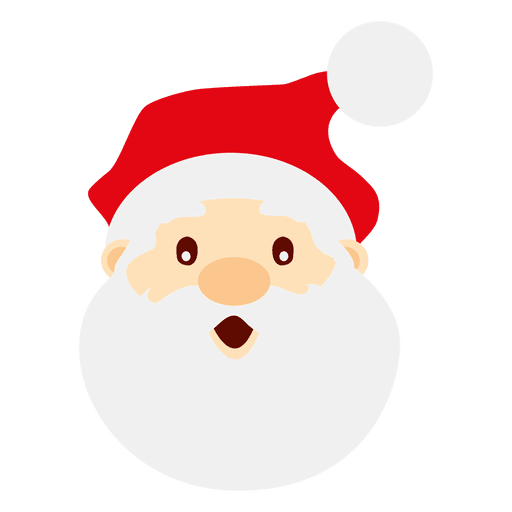 Vector santa christmas. Astonished claus face transparent