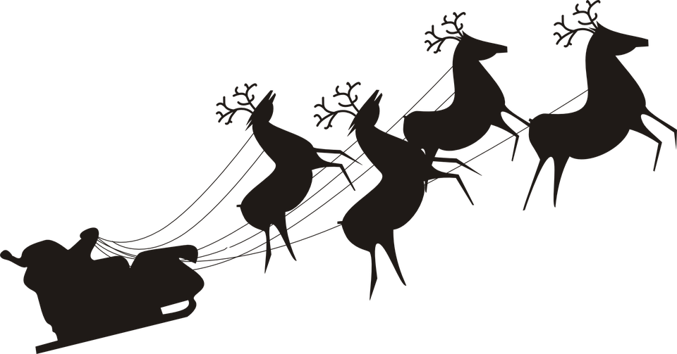Santa claus sleigh png. Taking off transparent stickpng