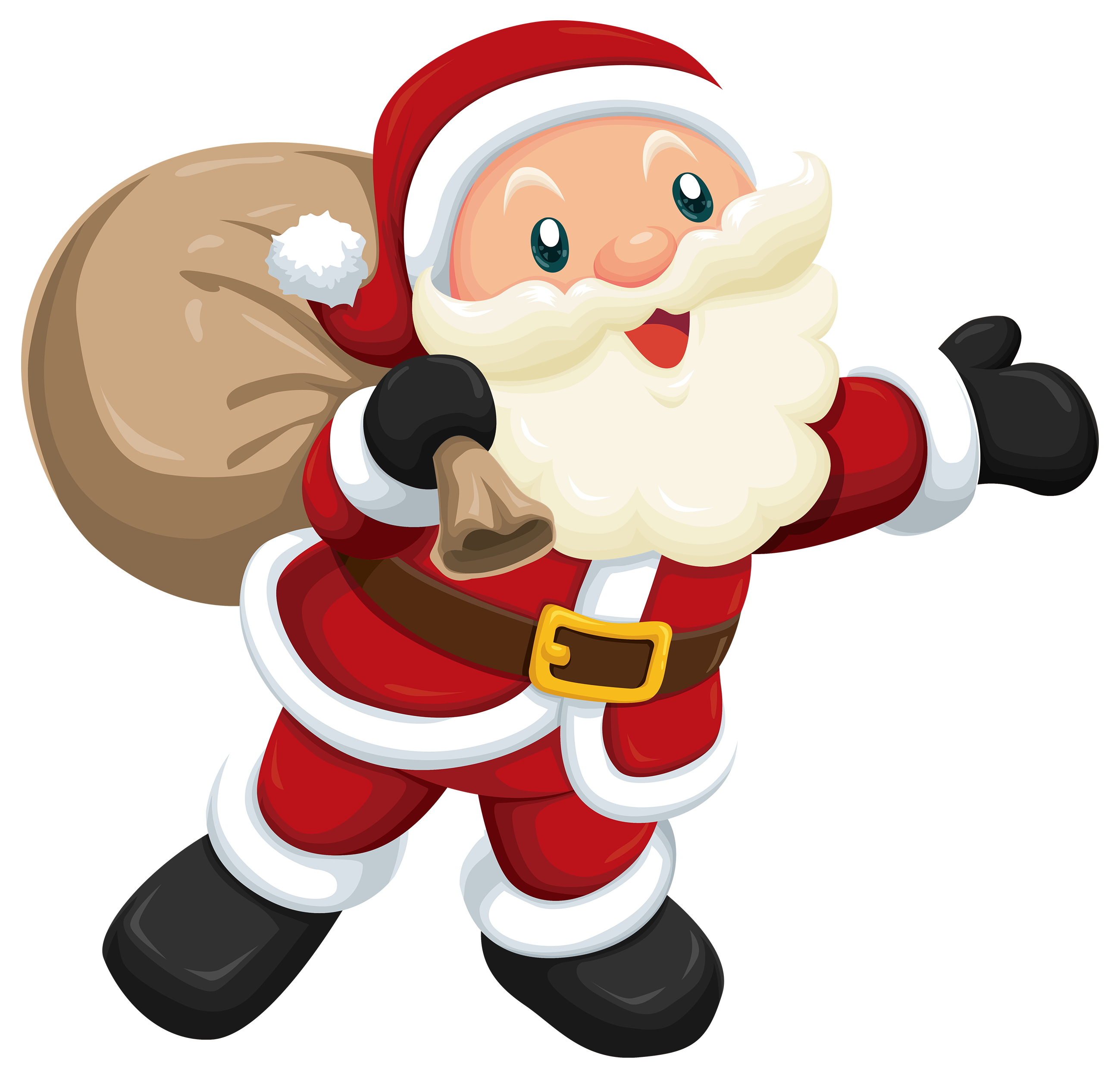Vector santa retro. Cute png clipart best