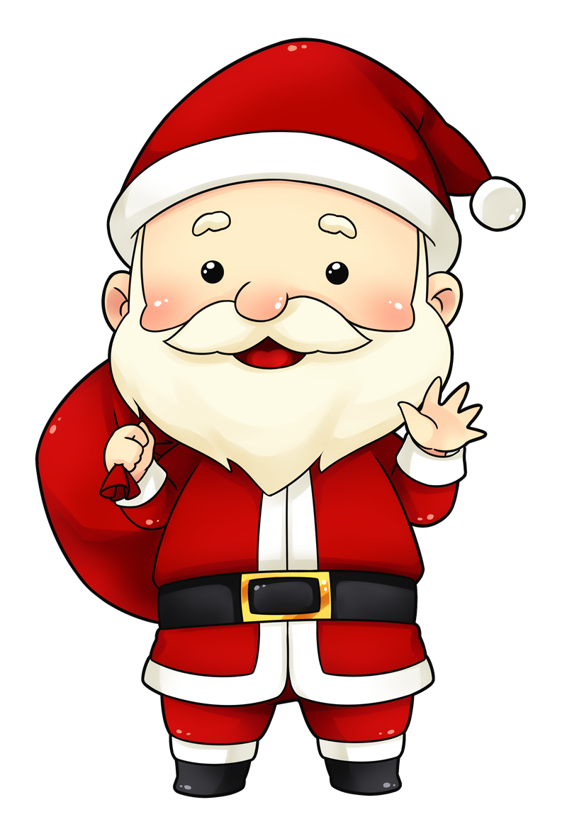 You can use this. Santa clipart image black and white download