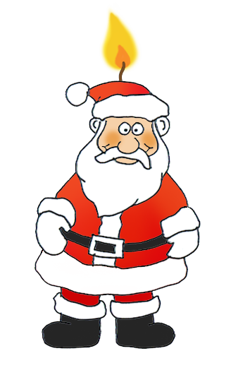 Funny and free claus. Santa clipart jpg transparent stock