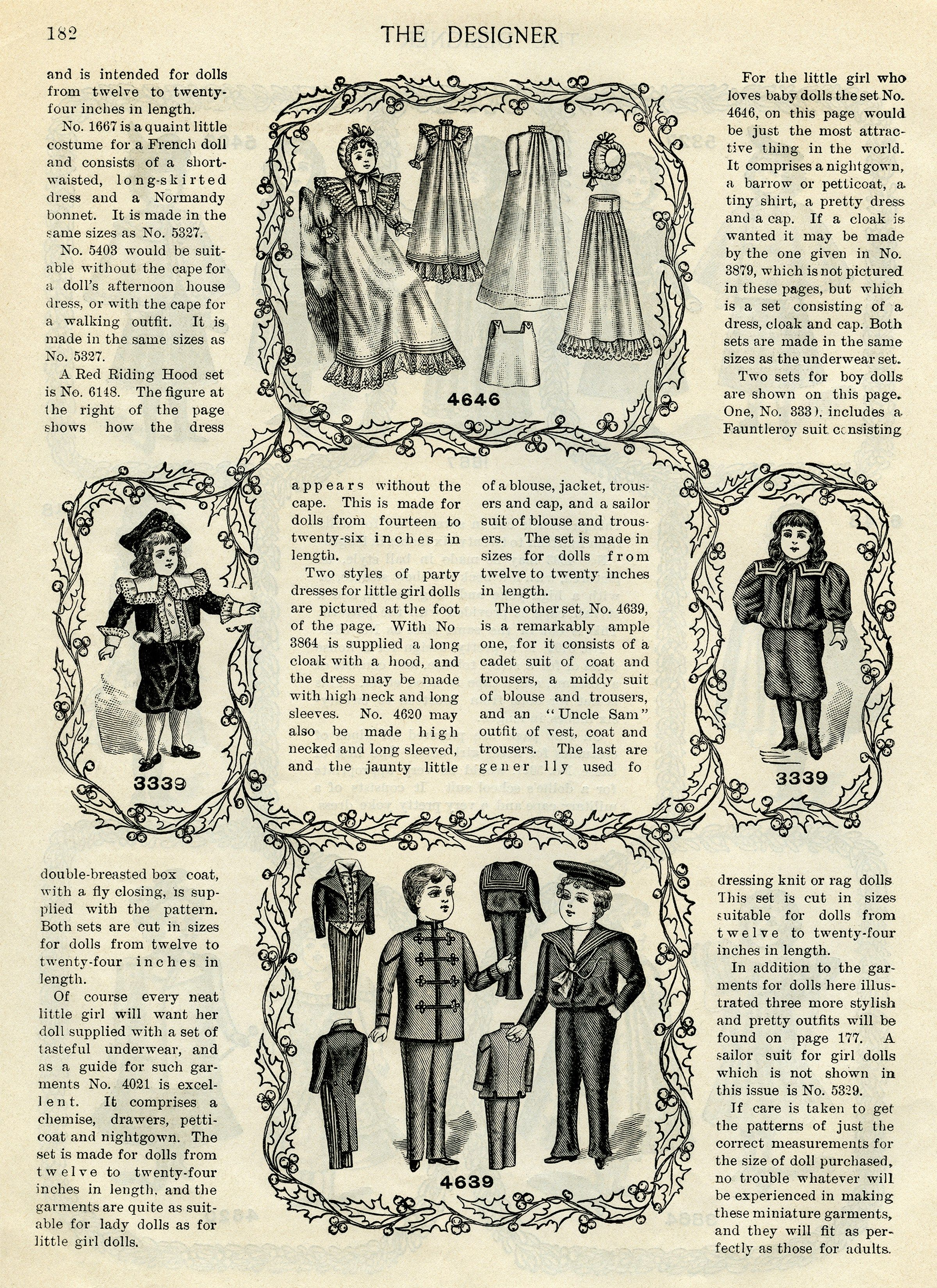 Santa clipart clothes. Victorian christmas doll vintage
