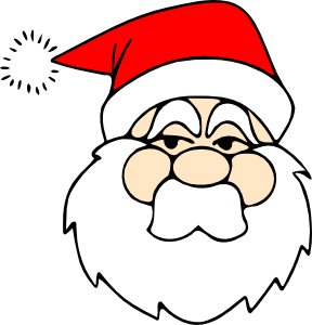 Santa clipart easy. Simple out lines
