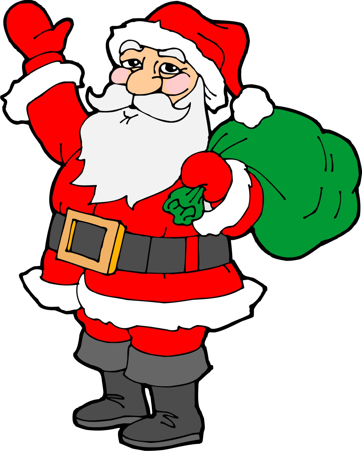 Santa clipart easy. Drawing at getdrawings com