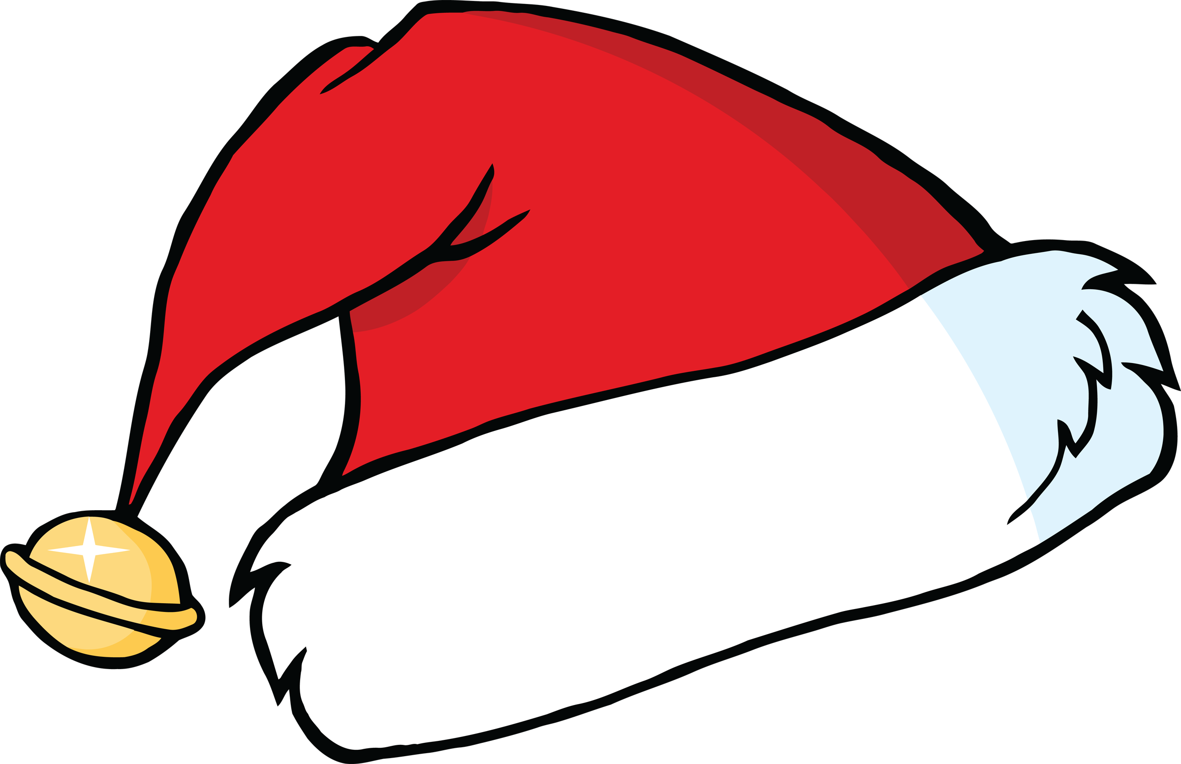 Santa clipart easy. Cap group santas hat