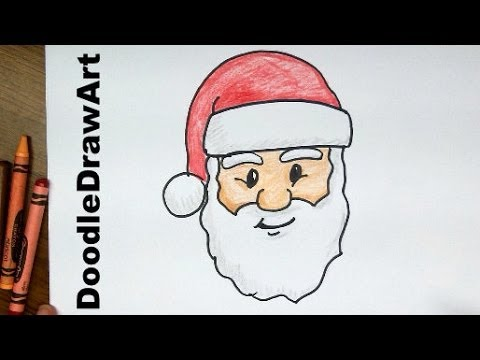 Santa clipart easy. How to draw claus