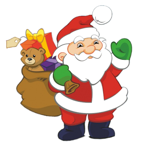 Santa clipart. Funny and free claus