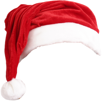 Santa hat and beard png. Christmas two isolated stock