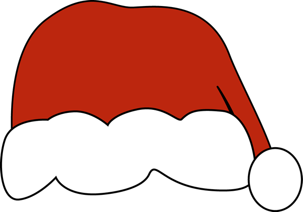 Santa hat clipart outline png. Collection of high