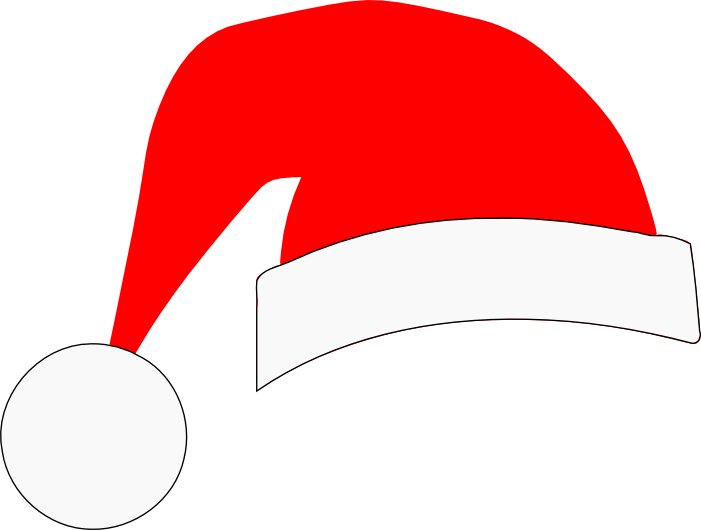 Santa hat clipart outline png. Svg crafts silhouette s