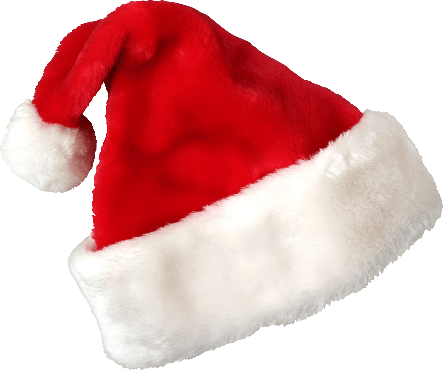 Santa hat transparent background png. Claus christmas stickpng