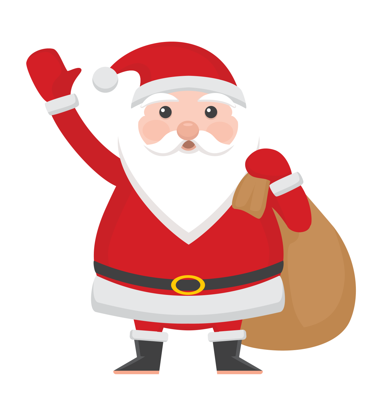 Png . 2016 clipart santa claus clipart black and white