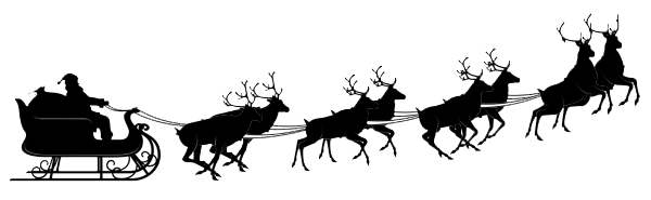Santa sleigh silhouette png. Images free download