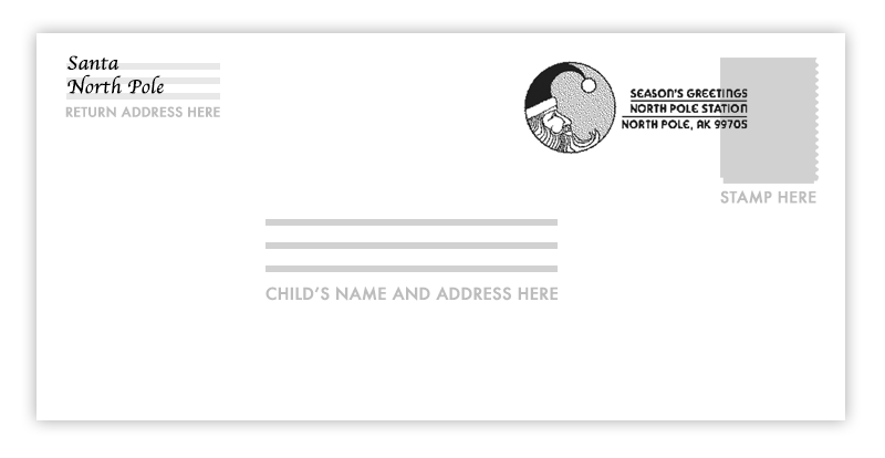 Santa stamp png. Letters from usps mail