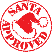 Santa stamp png. Approved mug spreadshirt