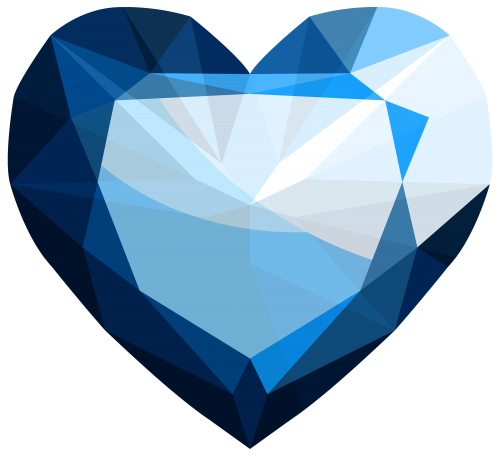 Heart png clipart draw. Sapphire drawing black and white download