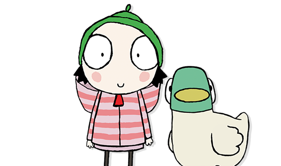 Sarah and duck png. Shows berenstain bears caillou