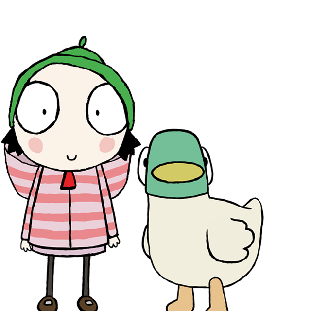 Sarah and duck png. Games videos other fun