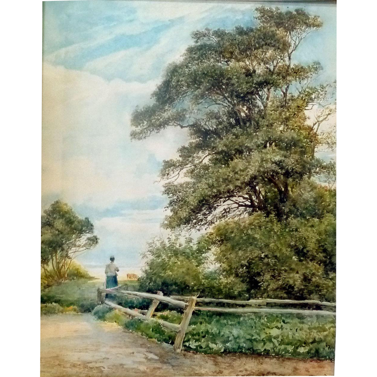 Sargent drawing landscape. The meadow beyond ca